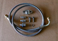 -4an -4 an Turbo Oil Feed Line Kit Braided Stainless t3t4 to4e fitting