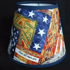 Patriotic Custom Made Handcrafted Lamp Shade 6 x 10 x 8 Life Liberty