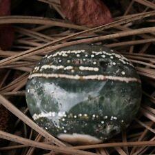 """ORBICULAR OCEAN JASPER Polished Palm Stone 46.3 gr 1.78""""w/ Healing Property Card"""