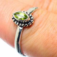Peridot 925 Sterling Silver Ring Size 7.75 Ana Co Jewelry R26456F