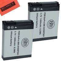 BM Premium 2 Pack AHDBT-001, AHDBT-002 Battery for GoPro HD HERO, HERO2 Camera