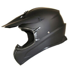 New Adult Motocross Helmet Motorcross MX BMX SHARK Bike Matt Black S M L XL