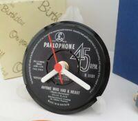 *new* CILLA BLACK  - RECORD CLOCK actual VINYL RECORD CENTRE Desk / Side Table