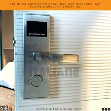 Serratura elettronica hotel, bed and breakfast, con Software check-in check- out