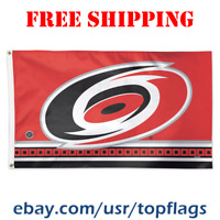 Deluxe Carolina Hurricanes Logo Flag Banner 3x5 ft 2019 NHL Hockey Fan Gift NEW