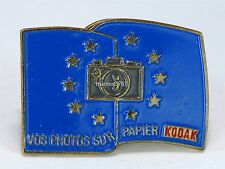 KODAK COLLECTORS LAPEL PIN!! VOS PHOTOS SUR PAPIER!! EXCELLENT CONDITION!!