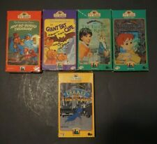 x5 TV Teddy VHS Tapes Lot - Berenstain Bears, Tale of Rabbit, Cricket