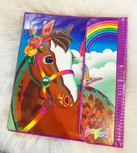 Vintage Lisa Frank Rainbow Chaser Appaloosa Horse Folder Binder Trapper Keeper