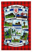Scotland landmarks wish you were here torchon souvenir cadeau scènes écossais
