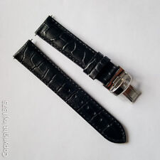 Black Leather Strap Watchband for Tissot T461 T014417A T171186A 19mm