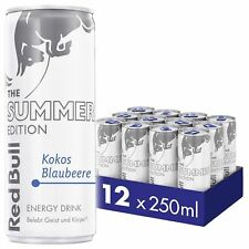 4 volle Dosen Red Bull  Summer Edition Kokos Blaubeere 4x 250 ml