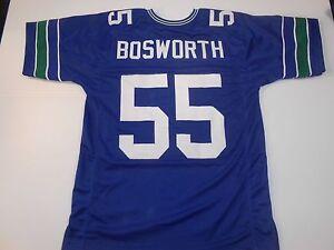 UNSIGNED CUSTOM Sewn Stitched Brian Bosworth Blue Jersey - M, L, XL, 2XL, 3XL