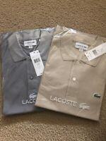 Lot Of LACOSTE Men's CLASSIC FIT  SHORT SLEEVE POLO COTTON CROC LOGO SHIRT 2/XS