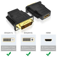 [Bi-direction] 1080P Gold Plated HDMI to DVI Adapter Converter For HDTV Laptop