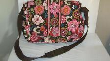 Vera Bradley Mod Floral Pink MESSENGER School Travel Crossbody Bag 11.5 x 14 x4