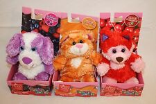 Russ Yummy Luvvies Peeper Scented Berry Cherry Ice Cream Stuffed Animals Lot 3