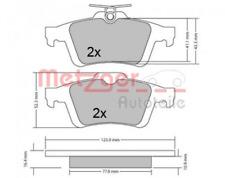 Bremsbelagsatz, Scheibenbremse für Bremsanlage Hinterachse METZGER 1170343
