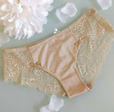 Nadia peach cream lace bow sexy soft seamless briefs pants knickers lingerie