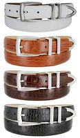"Wilshire Italian Calfskin Leather Designer Dress Golf Belts for Men 1-1/8"" Wide"