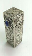 Vintage Austrian silver 0.800 lipstick box with art nouveau engraving