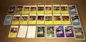 VINTAGE TOP TRUMPS LIVERPOOL FC Circa 1980 - 1981 Fully Complete Dalglish