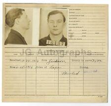 Police Booking Sheet - Crime of Rape - 1914