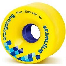 Longboard Wheels. Orangatang Stimulus Freeride Longboard Wheels - Yellow 70mm