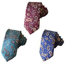 Men's Fashion 6CM Skinny Paisley Ties Jacquard Woven Suits Wedding Necktie