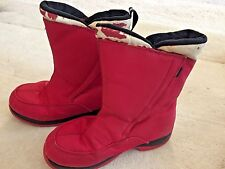 LANDS' END RED RAIN BOOTS GIRLS SIZE 5M