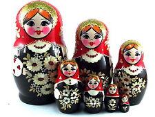 Nesting Dolls Russian Matryoshka Traditional Babushka Stacking New set 7 pc 5in