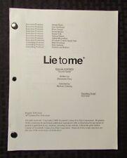2009 LIE TO ME TV Show Script Episode #2APW09 Secret Santa FVF 47 pgs 10/13/09 A