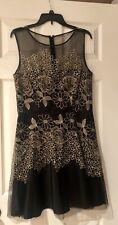 Gold & Black Evening Dress Size 12