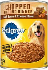 Pedigree Chopped Ground Dinner Beef, Bacon & Cheese Flavor Canned Dog Food, case