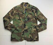 Polo Ralph Lauren Men Military Army Camo Canvas Sport Jacket Coat Blazer M L