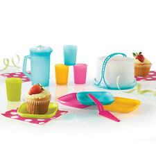 Tupperware Kids' 11-piece Mini Party Play Set Toy w/cups, plates, pitcher, etc.
