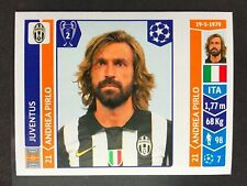 2014-15 Panini Champions League Andrea Pirlo sticker Juventus