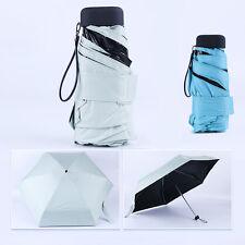 BARATO! Mini compacto y plegable Bolso PACK NEGRO SUN Rain paraguas para hombre