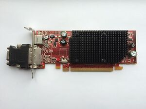 SFF DELL YP477 0YP477 RADEON HD 2400 PRO 256MB PCIE WINDOWS 10 WITH VGA ADAPTER
