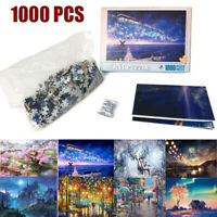 1000 Piece Jigsaw Puzzles Games Landscapes Cities Gifts Kids Toys 8 Pattern