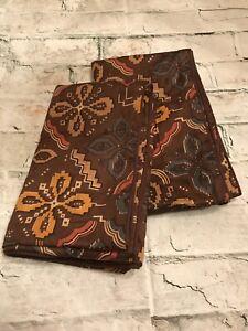 FAB VTG Sferra 1891 Floral Geometric Design Cotton-Sateen Pair King Pillow Shams