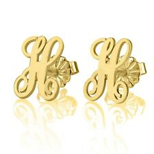 Fashion New Initial Stud Earrings Gold Plated Gold Plated Women Jewelry Earring
