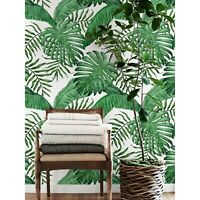 Non-woven Wallpaper roll Tropical leaf Watercolor traditional Home decor Mural