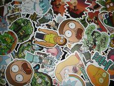 Rick & Morty Stickers Lot (10 or 40 pcs)- Skateboard water bottle- QUICK SHIP!