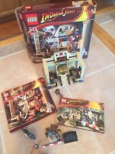 LEGO INDIANA JONES 7621 Lost Tomb & box and 7620 Motorcycle chase Opened