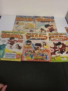 Lot of 5 Vintage The BEANO UK Comic Books Large Sized Color Rare EUC