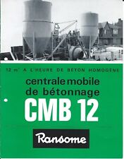 Equipment Brochure - Ransome CMB 12 - Mobile Cement Plant - FRENCH lang (E4469)