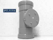 "Soil Pipe Access Rodding Point Inspection Eye 4"" 110mm Grey DOUBLE SOCKET FEMALE"