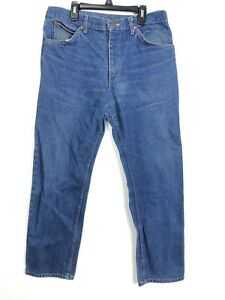 A1 Lee Riders Vintage USA Made Straight Leg Jeans Tag Sz 34x30 Medium Wash
