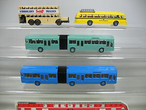 AF92-0, 5 #4x wiking H0 Bus: Mercedes-benz MB+ Bundespost + Sarotti Chocolate,