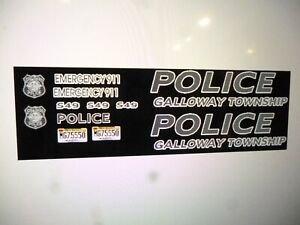 Galloway Township New Jersey Police Patrol  Vehicle Decals 1:24